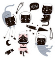 circus cats astronauts clipart cute vector image