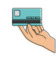 color business electronic credit card in the hand vector image