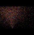 colorful explosion confetti colored grainy vector image