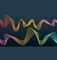 colorful sound wave audio vector image