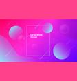 creative geometric shapes wallpaper trendy vector image vector image