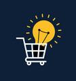 creative idea concept flat design light bulb in vector image vector image
