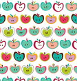 Cute-seamless-apple-pattern vector image vector image