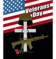 Day of remembrance for war veterans Veterans Day vector image