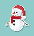 design christmas snowman card vector image