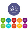 downhill bicycle icon simple style vector image vector image