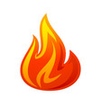 fire flame 3d red icon vector image vector image