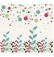 Floral and bubbles background vector image vector image