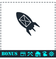 Flying message icon flat vector image