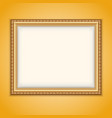 frame gold vector image vector image