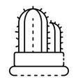 garden cactus pot icon outline style vector image vector image