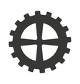 gear machine style isolated icon design vector image vector image