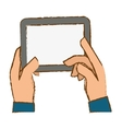 hands holding tablet icon image vector image