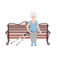 happy old women dressed in sports clothing sitting vector image