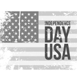 Independence Day USA Text on grunge Flag vector image