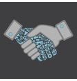 Industry hand shake vector image
