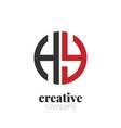 Initial letter hy creative elegant circle logo
