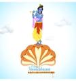 Krishna dancing on Kaliya Naag vector image vector image