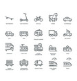 land transport icons set vector image