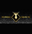 merry christmas and happy new year web banner with vector image vector image