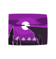 mountains and forest at night time beautiful vector image vector image