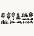 nature landscape elements collection vector image vector image