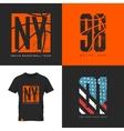 New York street wear t-shirt emblem vector image vector image