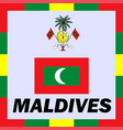 official ensigns flag and coat of arm of maldives vector image vector image