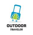 outdoor traveler logo vector image