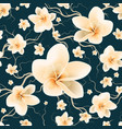 pattern with branch and spring flowers vector image vector image