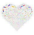 pill fireworks heart vector image vector image