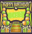 poster for happy birthday vector image