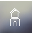 Real estate agent thin line icon vector image