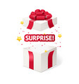 realistic detailed 3d present box open vector image vector image