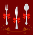 restaurant design elements vector image vector image