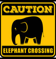 road sign - attention animal elephant crossing