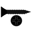 screw bolt black icon vector image vector image
