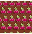 seamless chocolate cherry vector image
