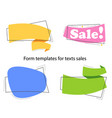 set colored promotion banners flat bubble shaped vector image vector image
