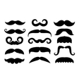 set of different mustache icons vector image vector image