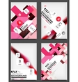 Set of Flyer Templates Business Web Layouts vector image vector image