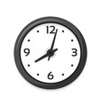 simple white clock icon single isolated vector image