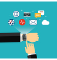 smart watch concept flat design vector image