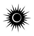 Solar eclipse single black icon vector image