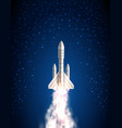 space shuttle spacecraft cosmic rocket spaceship vector image