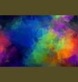 spectrum polygonal background flat holi rainbow p vector image