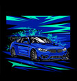 speed hunter with abstract shape background vector image vector image