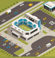 sport stadium area isometric composition vector image vector image