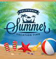 summer typography and holiday background vector image vector image