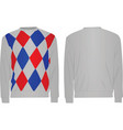 sweater with argyle pattern vector image vector image